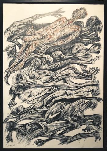 """DNA"" (2018) by Farhad Gavzan, pencil on paper, 70 x 100 cm."