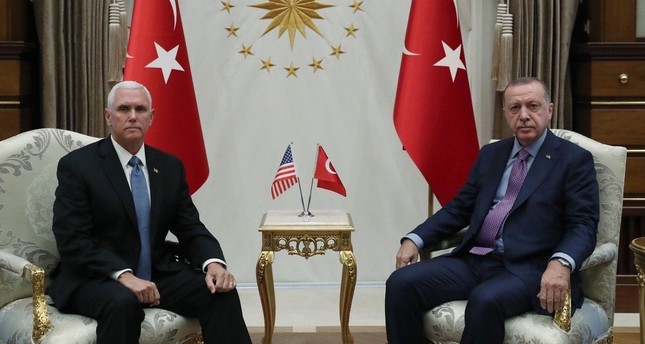 Erdoğan holds meeting with US VP Pence over Syria