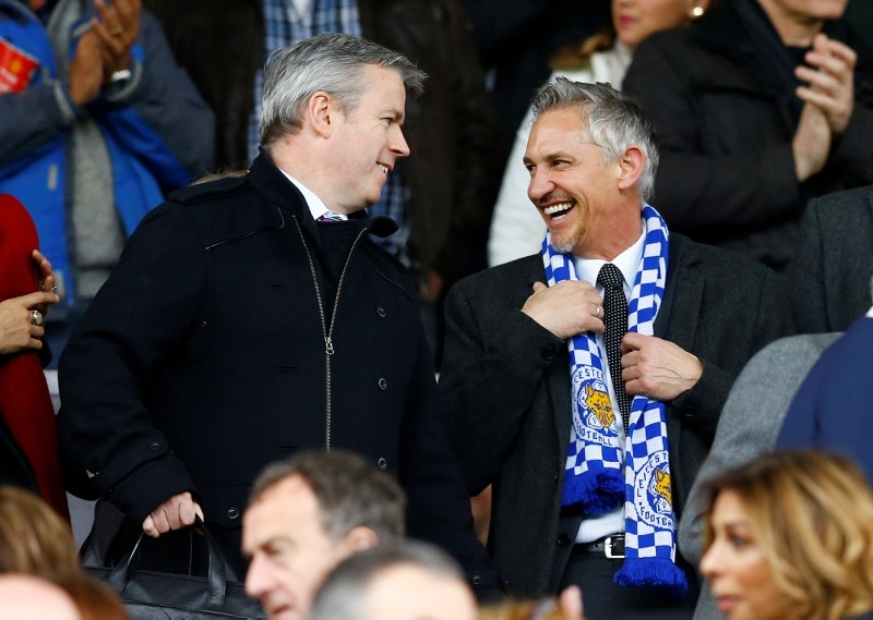 Gary Lineker (R) in the stands. (REUTERS Photo)