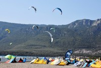 Constant wind on Aegean coast lures windsurfers to Muğla