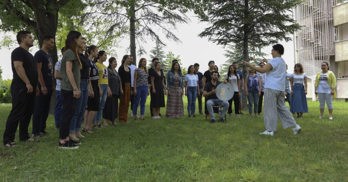 Tu00dcRKSOY Youth Choir rehearsed for their concerts in Ankara.
