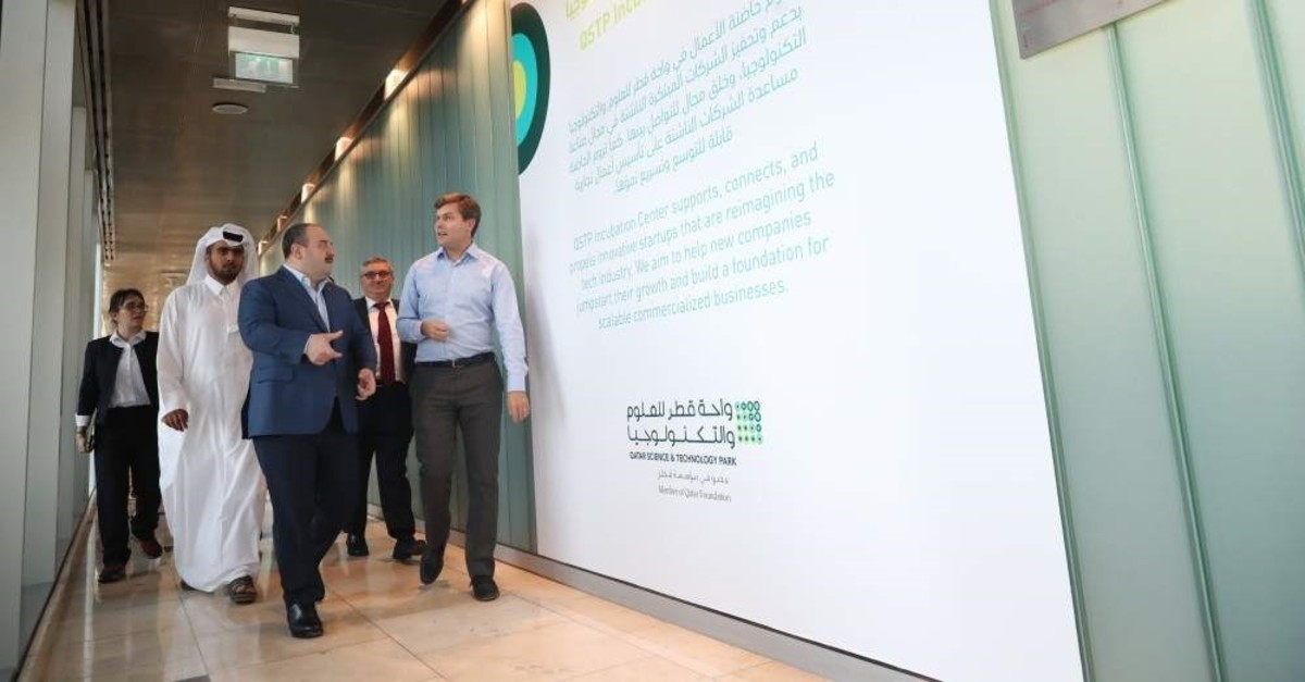 Industry and Technology Minister Mustafa Varank was in Doha, Qatar for a preparatory meeting ahead of the Kuala Lumpur Summit, Nov. 4, 2019. (AA Photo)