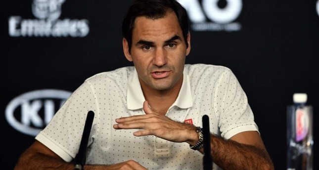Federer speaks at a press conference ahead of the Australia Open in Melbourne, Jan. 18, 2020. AFP Photo