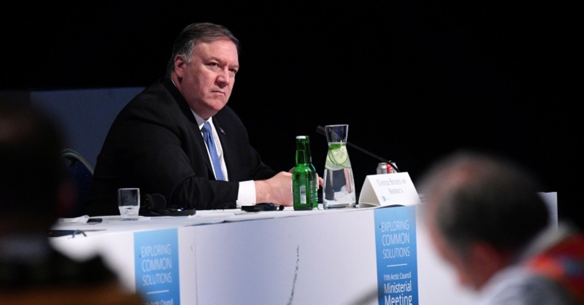 U.S. Secretary of State Mike Pompeo attends the Arctic Council summit at the Lappi Areena in Rovaniemi, Finland May 7, 2019 (Reuters Photo)