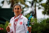 من لاعبات الفريق التركي في رياضة القوس والسهم (من الأرشيف)