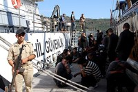 129 foreigners trying to leave Turkey illegally were caught Sunday during an anti-smuggling operation in southern Muğla province's Fethiye district.