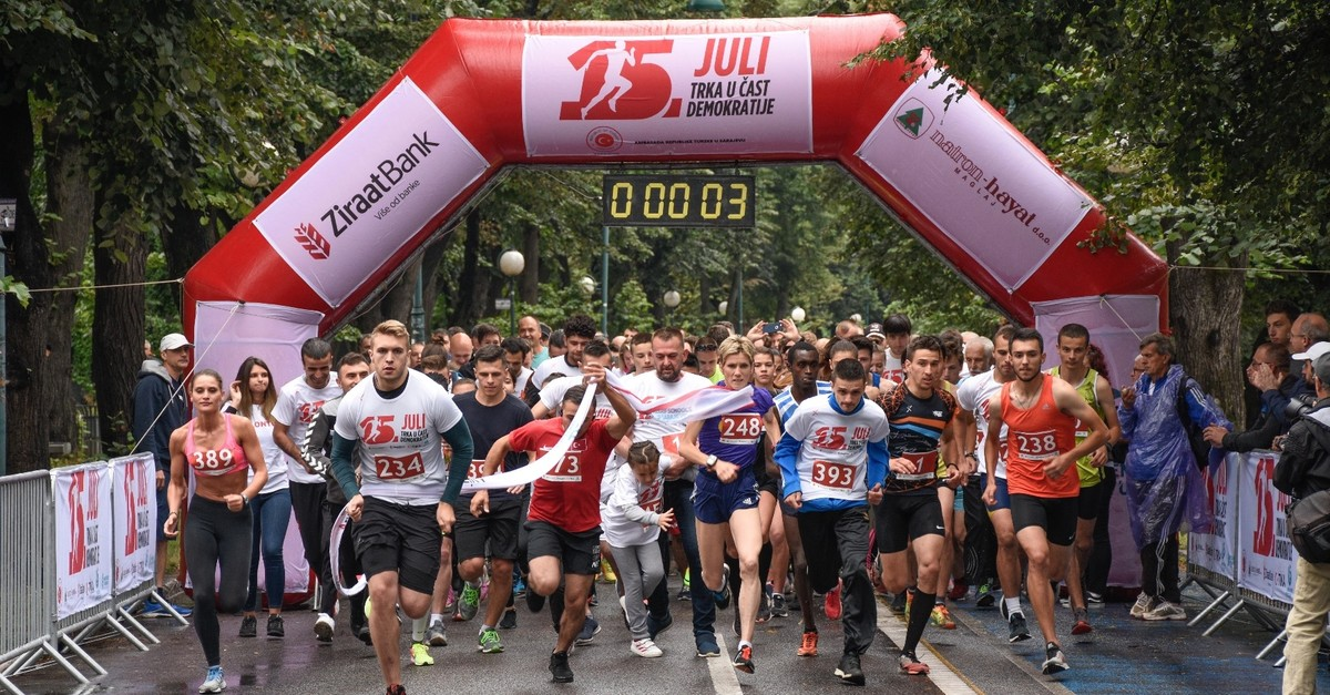 More than 500 people joined the race in Sarajevou2019s Vilsonovo, July 14, 2019.
