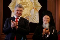 Ukraine's Poroshenko, Patriarch Bartholomew sign cooperation deal