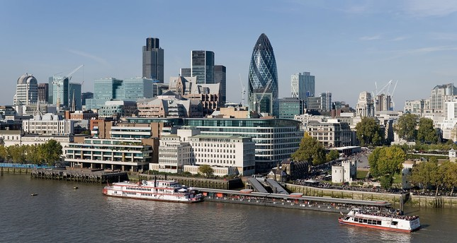 A view of London, a leading finance center and home to headquarters of many global financial corporations operating across Europe.