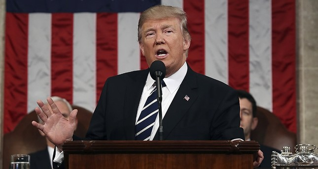 In this Feb. 28, 2017, file photo, President Donald Trump speaks on Capitol Hill in Washington, Tuesday, Feb. 28, 2017, during his address to a joint session of Congress. (AP Photo)