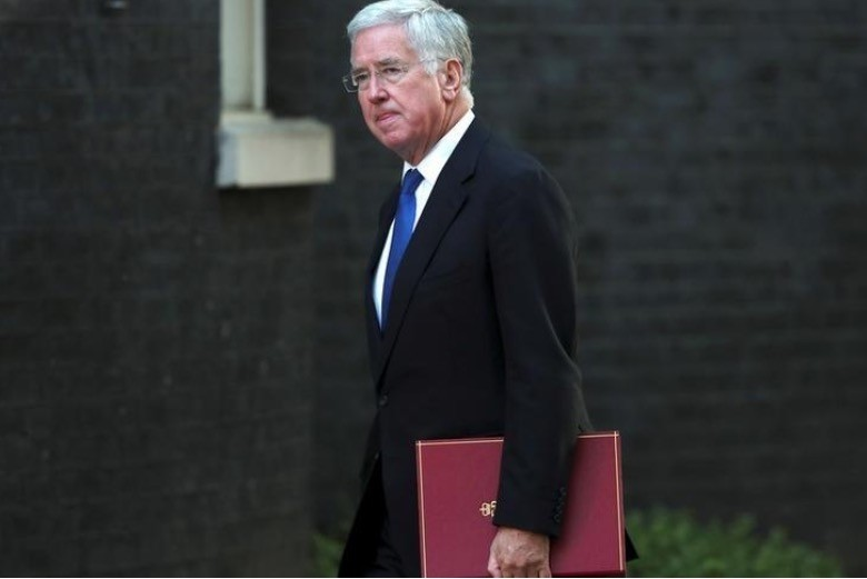 Michael Fallon, Britain's Secretary of State for Defence, arrives at a cabinet meeting in Downing Street, London September 12, 2017. (Reuters Photo)