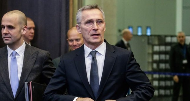 NATO Secretary-General Jens Stoltenberg attends a NATO defense ministers meeting, Brussels, Feb. 13, 2020. AFP Photo