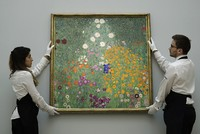 A painting of flowers by Gustav Klimt sold in London for 48 million pounds ($59 million), a record for a work by the Austrian artist and the third-highest price for any work sold at auction in...