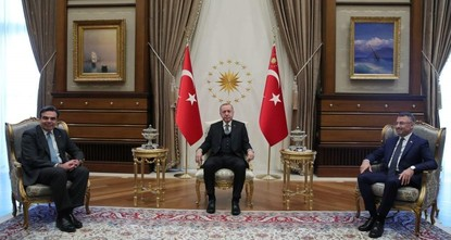 Erdoğan discusses cooperation with EU delegation