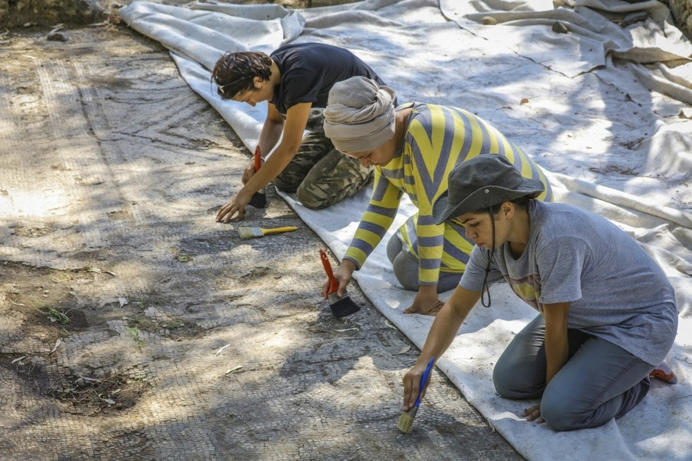 Archaeological findings were revealed in excavations of an ancient church, the site was used from the Hellenistic period until the Roman and Byzantine eras.
