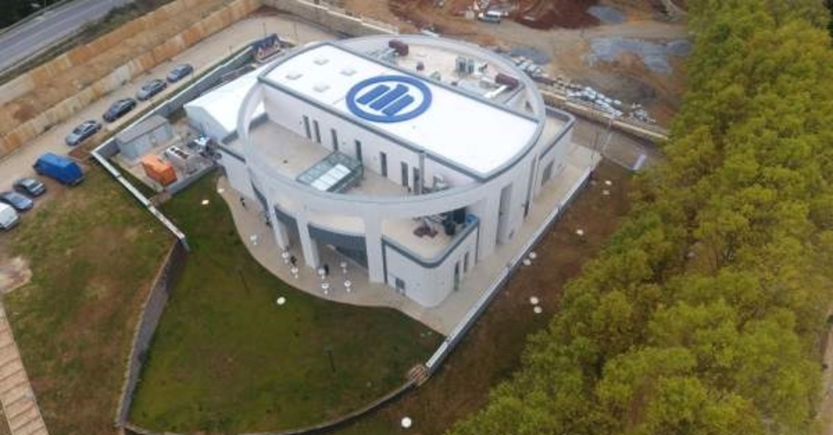 The Allianz Teknik Earthquake and Fire Testing and Training Center was established by Allianz Turkey on the Turkish-German University campus in Istanbul, Oct. 15, 2019. (AA Photo)