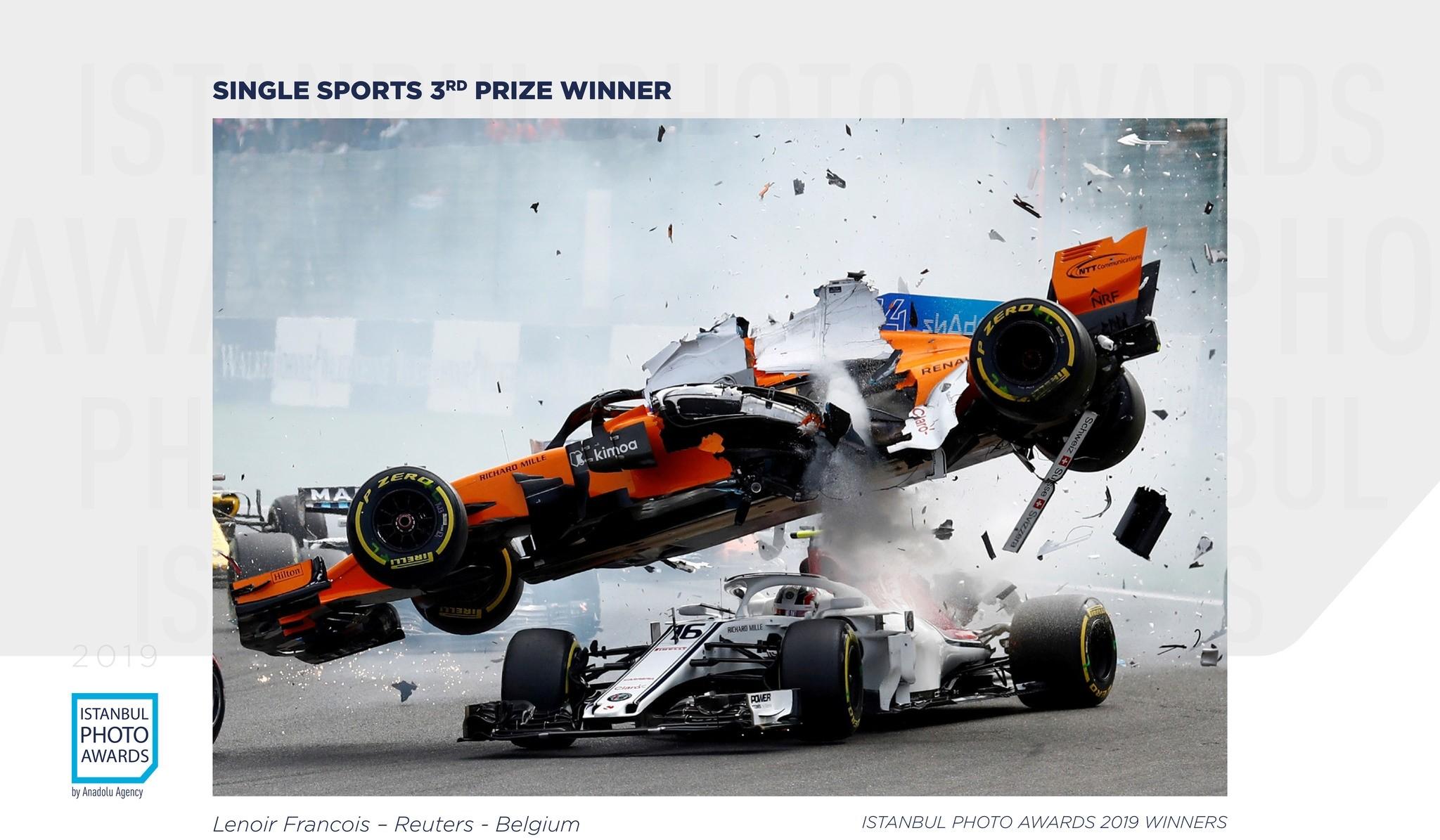 Single Sports 3rd Prize — F1 crash at Spa-Francorchamps