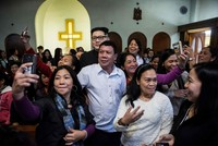 Fake Duterte, Kim Jong Un make a splash at Hong Kong church