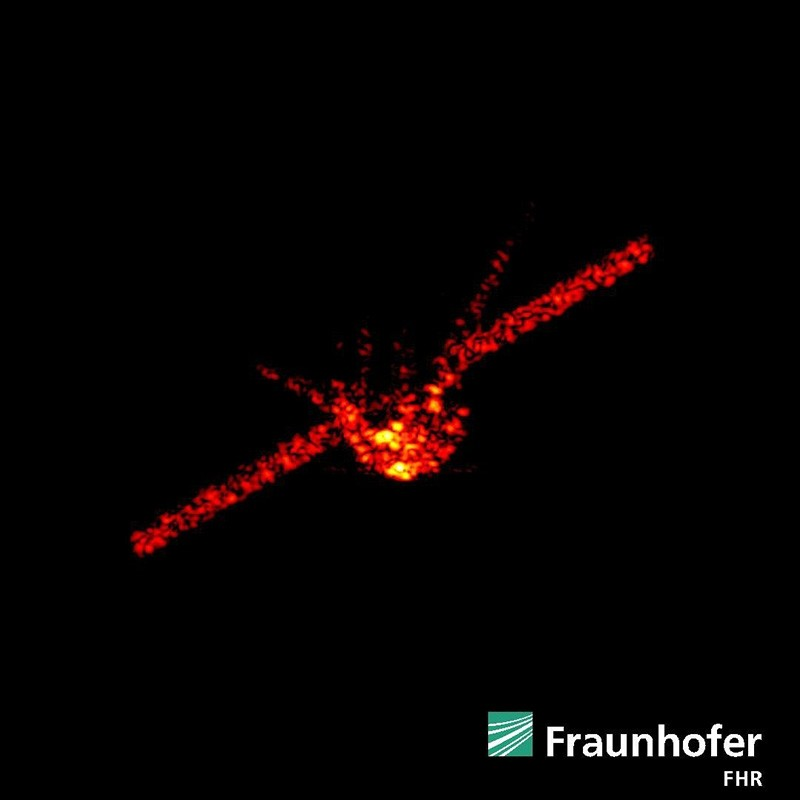 A handout photo made available by the Fraunhofer Institute for High Frequency Physics and Radar Techniques on March 21, 2018, shows a radar image of Tiangong-1 from different perspectives. (EPA Photo)