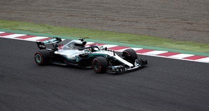 Hamilton roars to pole position for Japanese GP