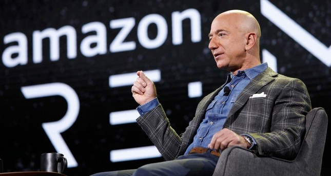 Amazon CEO Jeff Bezos speaks at the the Amazon re:MARS convention, Thursday, June 6, 2019, in Las Vegas. (AP Photo)