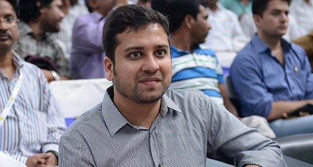 In this file photo taken on Oct. 30, 2015, Binny Bansal, co-founder of Flipkart, attends the launch of a Flipkart fulfillment center on the outskirts of Hyderabad. (AFP Photo)