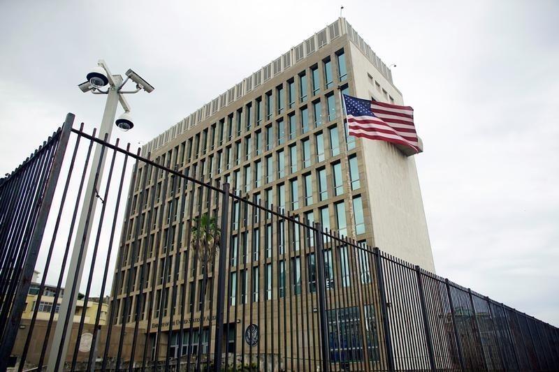 An exterior view of the U.S. Embassy is seen in Havana, Cuba, June 19, 2017. (Reuters Photo)