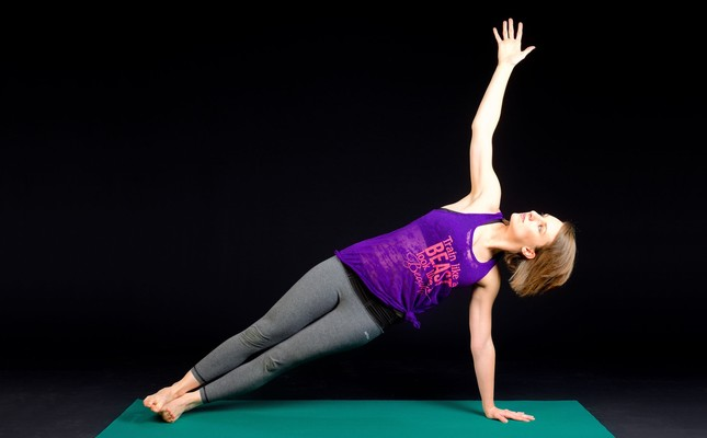 A simple yoga mat creates the soft padding you need for healthy exercise.