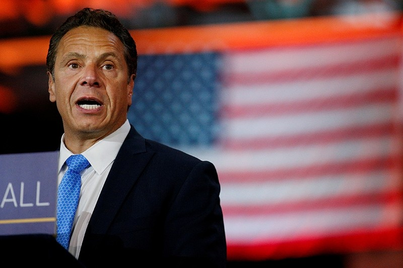 New York Governor Andrew Cuomo speaks during an announcement at The Moynihan Train Hall, New York City, U.S., Aug. 17, 2017. (Reuters Photo)