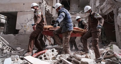pRescue workers from Syria's White Helmets group -- the subject of an Oscar-nominated documentary -- will not attend this weekend's Academy Awards ceremony because of intensified Assad regime...
