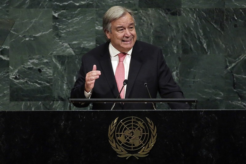 In this Sept. 19, 2017 file photo, United Nations Secretary-General Antonio Guterres addresses the 72nd meeting of the U.N. General Assembly, at U.N. (AP Photo)