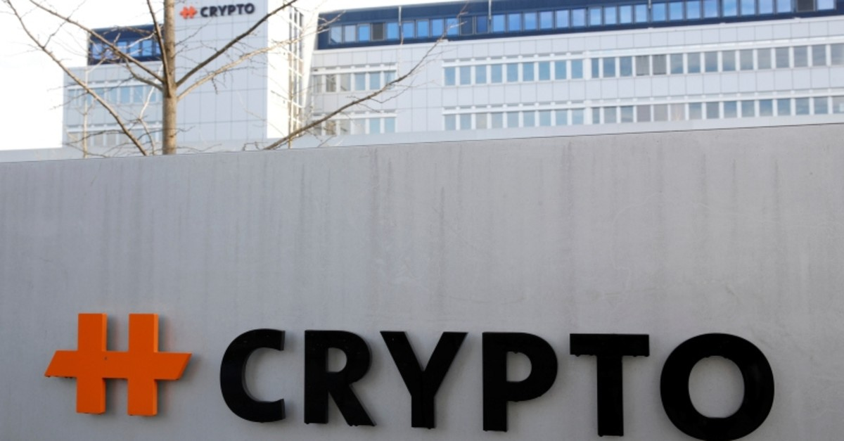 The logo of Crypto AG is seen at its headquarters in Steinhausen, Switzerland February 11, 2020. (Reuters Photo)