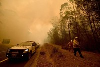 Thunderstorms bring relief and risk to Australian bushfires