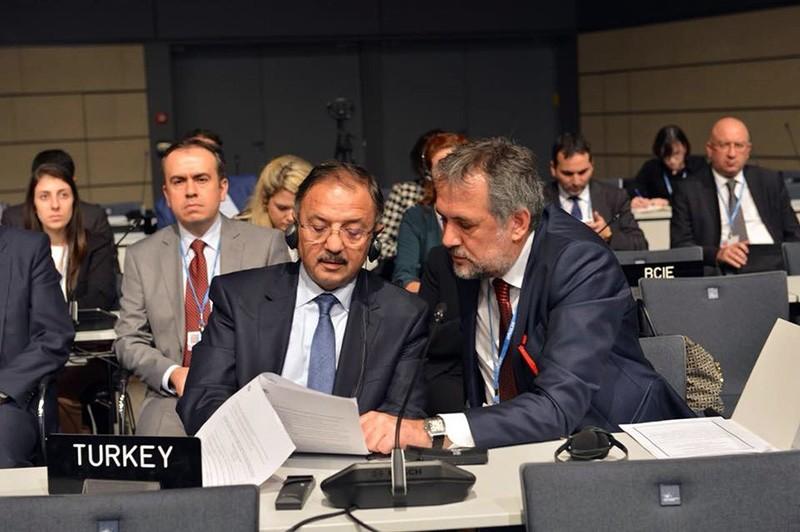 Turkey's Environment and Urbanization Minister Mehmet u00d6zhaseki attended this week's climate talks in Bonn, Germany. (IHA Photo)