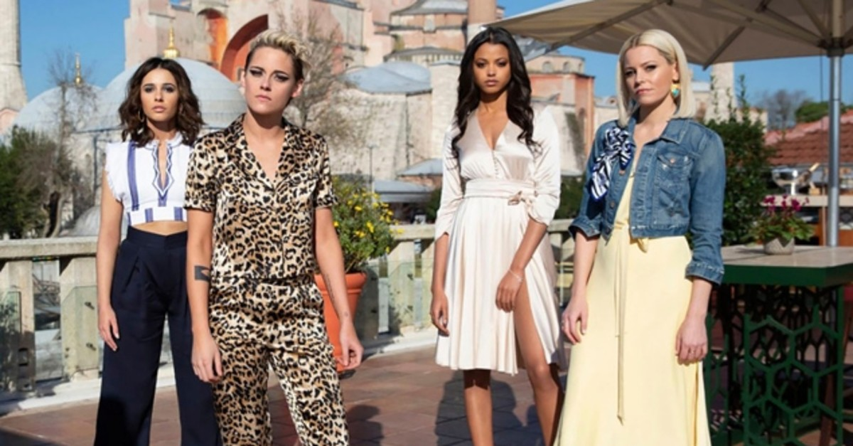 Kristen Stewart, Naomi Scott,  Ella Balinska and Elizabeth Banks star in Charlie's Angels. (FILE Photo via GUNAYDIN)