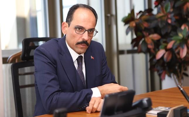 Presidential Spokesperson Ibrahim Kalın speaks to Daily Sabah's Nur Özkan Erbay, in Ankara, Oct. 23, 2019. Photo: Sabah / Erman Güneş