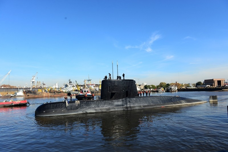 The Argentine military submarine ARA San Juan and crew are seen leaving the port of Buenos Aires, Argentina ( Reuters File Photo)