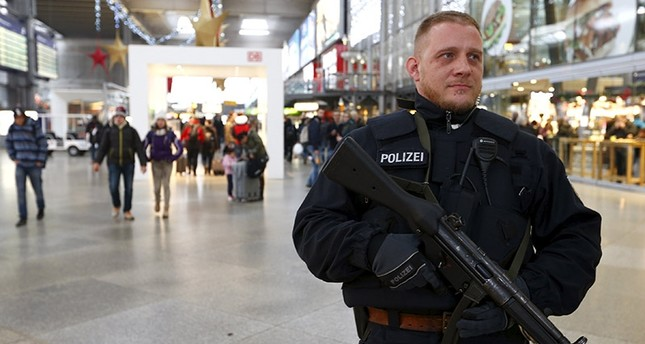 A German policeman patrols the main train station in Munich (Reuters File Photo)