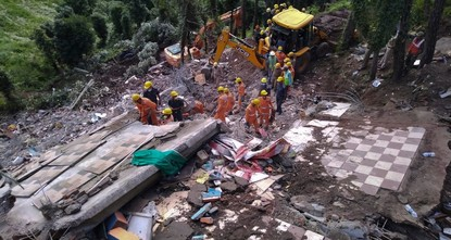 14 killed as building collapses in India after monsoon rains