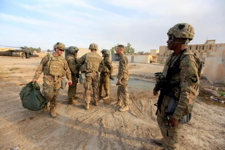 U.S army soldiers arrive at a military base in the Makhmour area near Mosul  (Reuters File Photo)