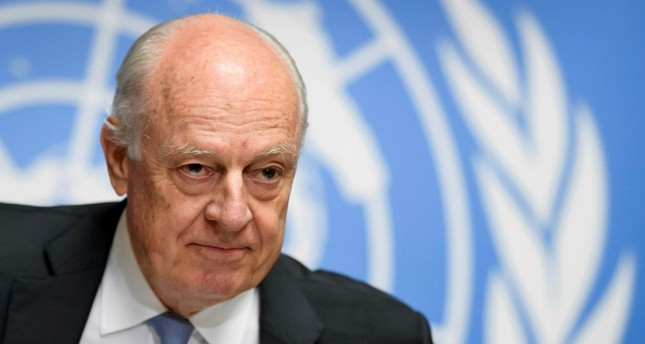 UN Special Envoy for Syria Staffan de Mistura (AFP Photo)