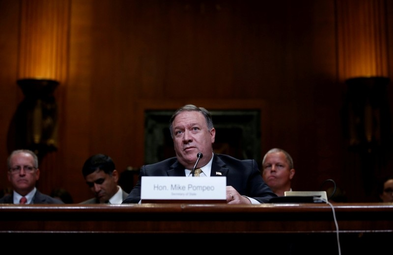 U.S. Secretary of State Mike Pompeo testifies before a Senate Appropriations Subcommittee hearing on the proposed budget estimates and justification for FY2019 for the State on Capitol Hill in Washington, U.S., June 27, 2018. (Reuters Photo)