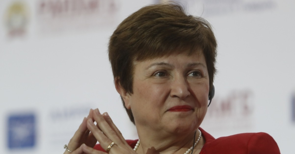 World Bank Chief Executive Officer Kristalina Georgieva attends a session of the Gaidar Forum 2018 ,Russia and the World: values and virtues, in Moscow, Russia, Jan. 17, 2018. (Reuters Photo)