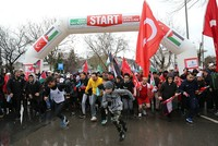 Thousands gather in Jerusalem awareness run in Istanbul's Üsküdar despite cold weather