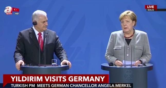 يلدريم: تركيا وألمانيا ستواصلان تطوير علاقاتهما بقوة في المرحلة المقبلة