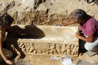 2 ancient Roman sarcophagi found near football stadium in Rome