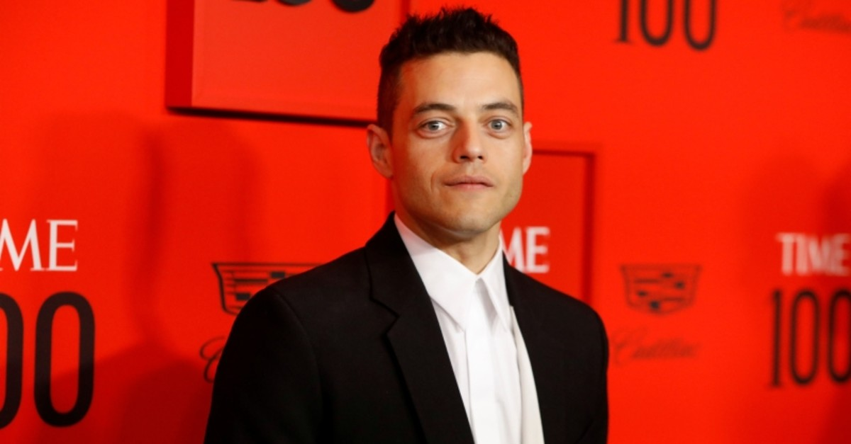 Rami Malek poses upon arriving for the Time 100 Gala celebrating Time magazine's 100 most influential people in the world in New York, U.S., April 23, 2019. (Reuters Photo)