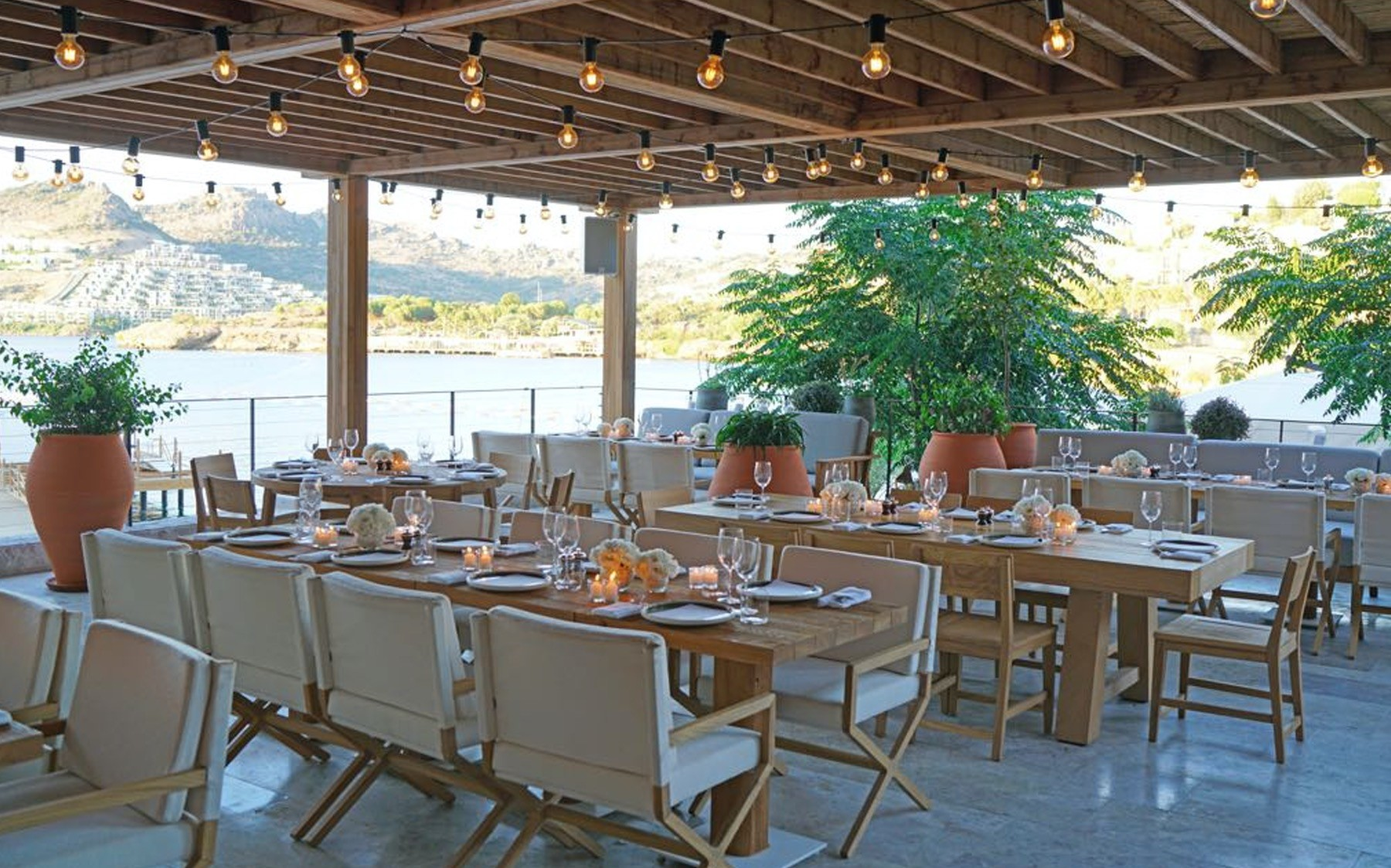 Brava restaurant at the Edition Hotel recently opened in Bodrum.