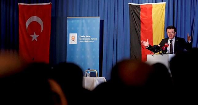 وزير الاقتصاد التركي يشارك في فاعلية ثقافية لجالية بلاده بألمانيا