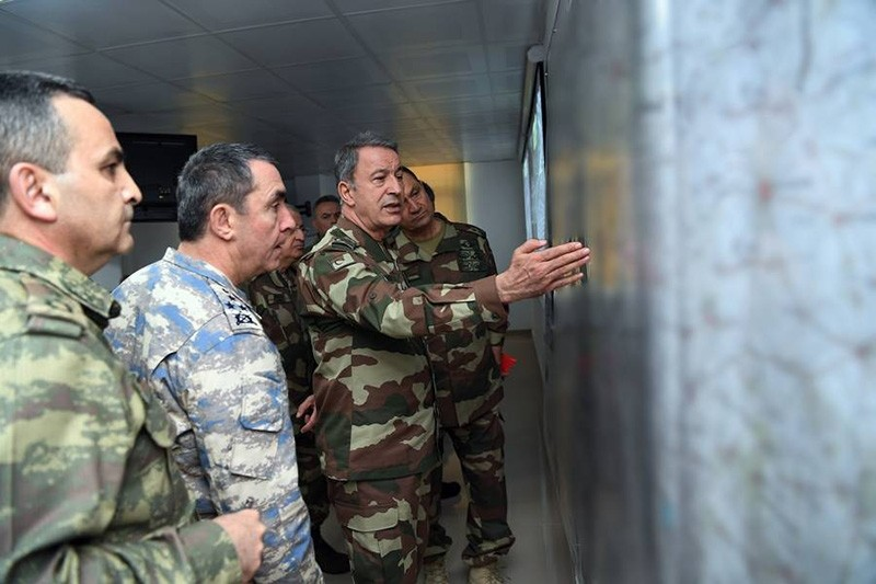 Turkish Chief of Staff Gen. Hulusi Akar addresses generals on Operation Olive Branch (AA Photo)